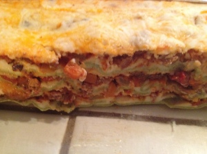 Lasagne Side View